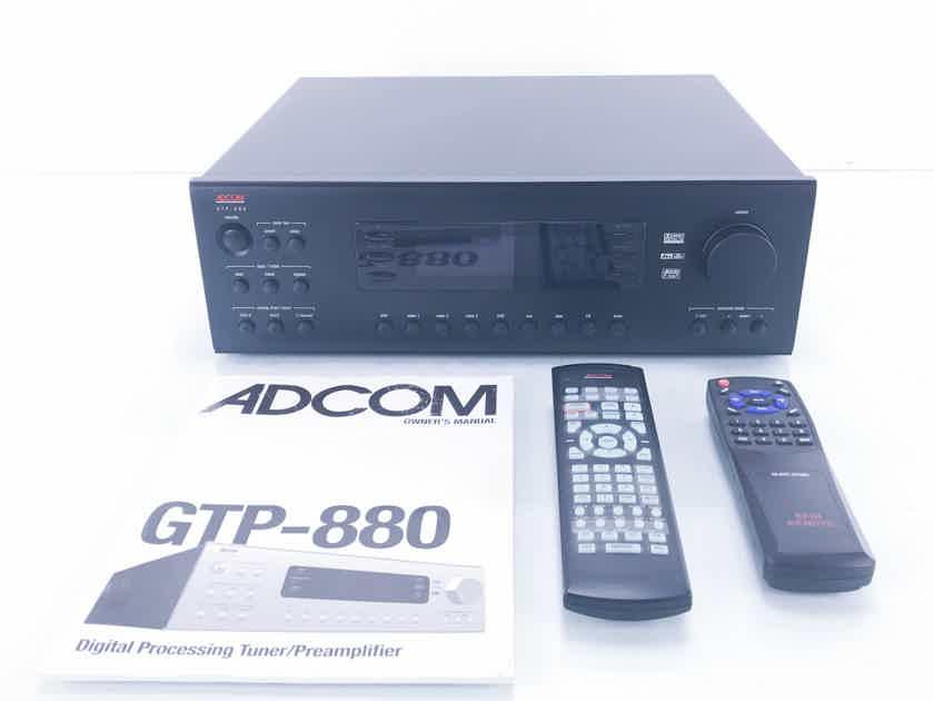 adcom gtp 880 7 1 channel preamplifier processor w am fm tuner rh audiogon com