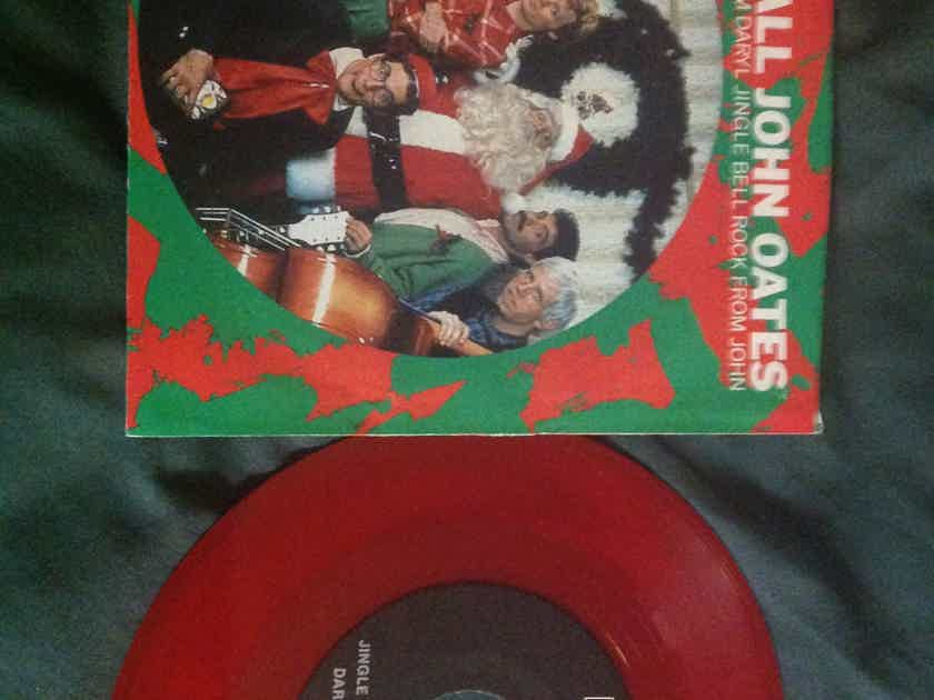 Hall  &  Oates - Seasons Greetings From RCA Records  Red Vinyl Promo 45 Single With Picture  Sleeve