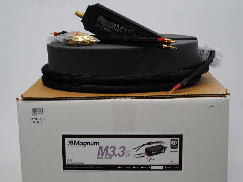 MIT Cables MAGNUM M3.3 SPEAKER CABLES 10 FT PAIR, USED 30X ARTICULATION, 2C3D, WARRANTY