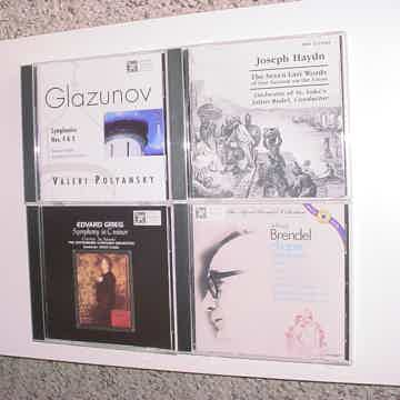CD LOT OF 4 CD'S Classical MHS Musical Heritage Society Grieg Brendel Haydn Glazunov
