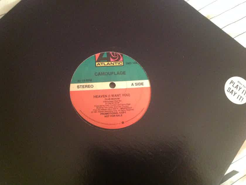 Camouflage  Heaven I Want You(Club Mix) Atlantic Records Promo 12 Inch