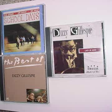 JAZZ Dizzy Gillespie cd lot of 3 cd's School days Lady be good Best of
