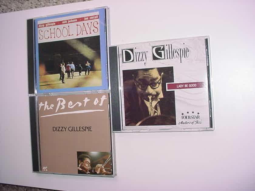 JAZZ Dizzy Gillespie cd lot of 3 cd's School days Lady be good Best of