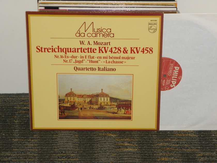 "Quartetto Italiano - Mozart ""StringQuartette KV 428& KV 458"" Philips Import Pressing 6570 922 Holland"