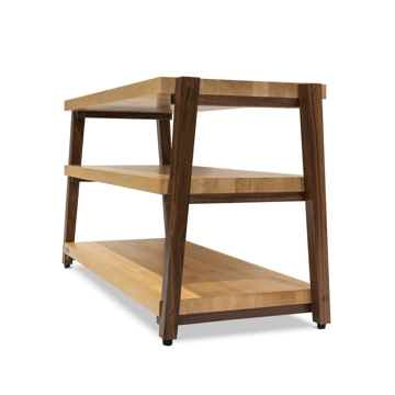 "Butcher Block Acoustics rigidrack™ 36"" X 20"" - 3 Shelf - Maple Shelves - Walnut Legs"