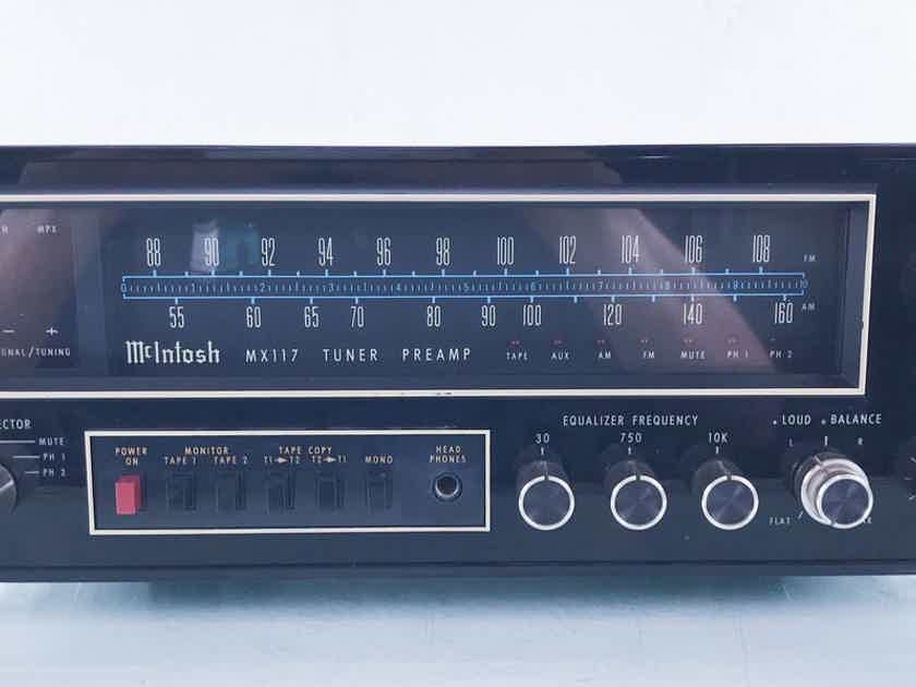 McIntosh MX 117 Vintage Stereo Preamplifier; AM / FM Tuner (Poor AM Reception) (14864)