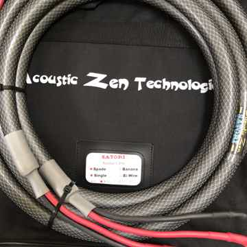 Acoustic Zen Satori speaker cable 8 foot-NEW
