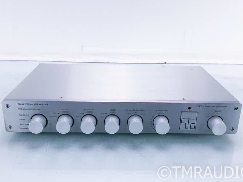 Threshold FET one Vintage Stereo Preamplifier; FET-1; MM / MC (16430)