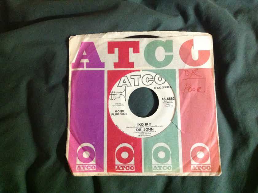 Dr. John - Iko Iko Promo Mono Stereo 45 Single  Atco Records Vinyl NM