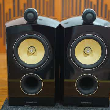 B&W Bowers & Wilkins Diamond D2 805D2 Piano Black Speakers & Factory FS-805 Stands