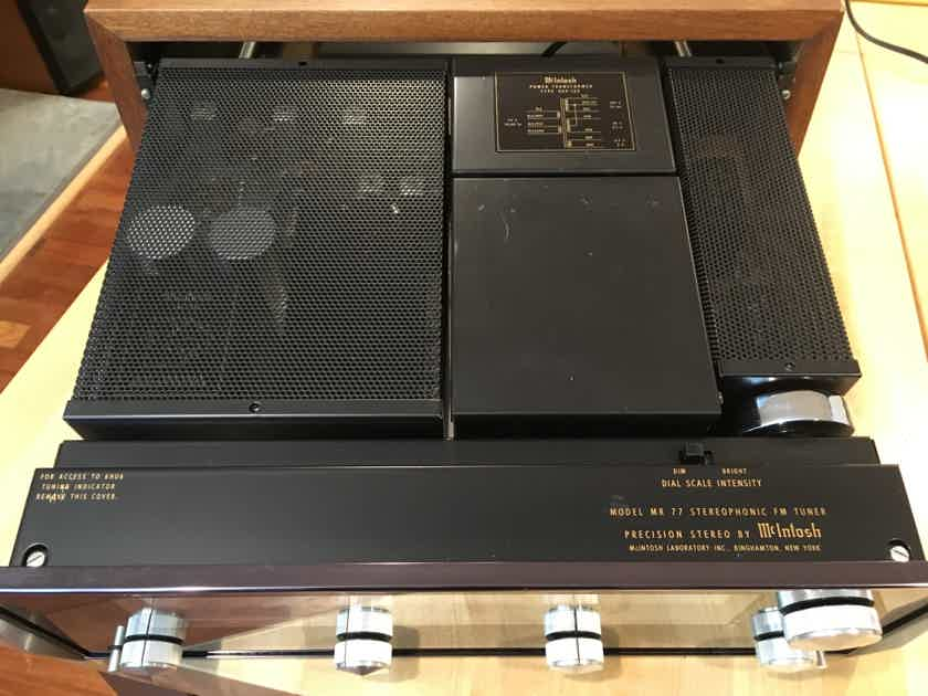 McIntosh MR-77 Near Mint with Cabinet, Vintage Glory