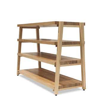 "Butcher Block Acoustics rigidrack™ 48"" X 18"" - 4 Shelf - Maple Shelves - Maple Legs"