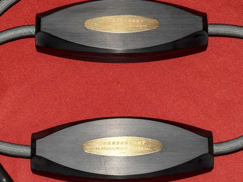 Transparent Audio Musicwave Ultra Speaker Cable (8ft, spade/spade)