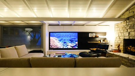 Mid-Century Modern Music Room & Home Theatre
