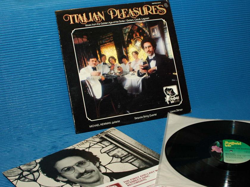 """GIULIANI / CARULLI / LEGNANI / Newman   - """"Italian Pleasures"""" - Sheffield Lab D-D 1977 TAS List"""