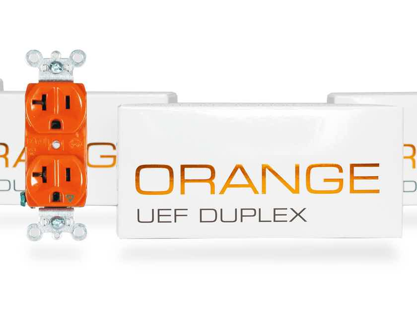 Synergistic Research ORANGE UEF Duplex - NEW top-of-the-line Duplex receptacle - available now