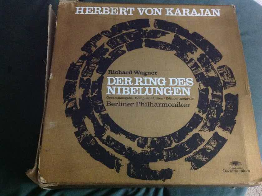 Herbert Von Karajan - Der Ring Des Nibelungen DGG Germany 19 LP Box Set Vinyl NM