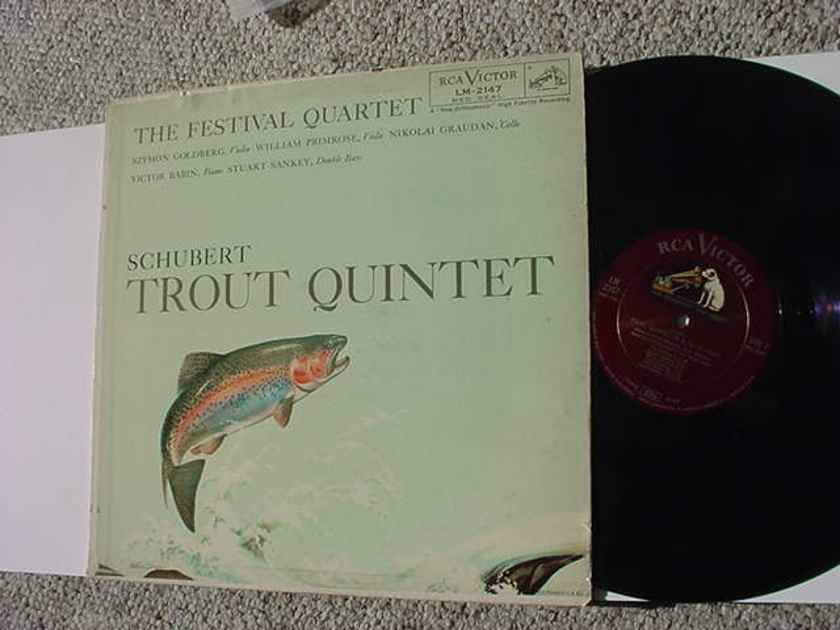 The festival quartet lp record - Schubert Trout Quintet RCA Victor shaded dog LM-2147