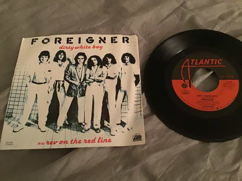 Foreigner  Dirty White Boy 45 With Picture Sleeve Vinyl NM