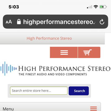 HighPerformaceStereo.com All High End Products