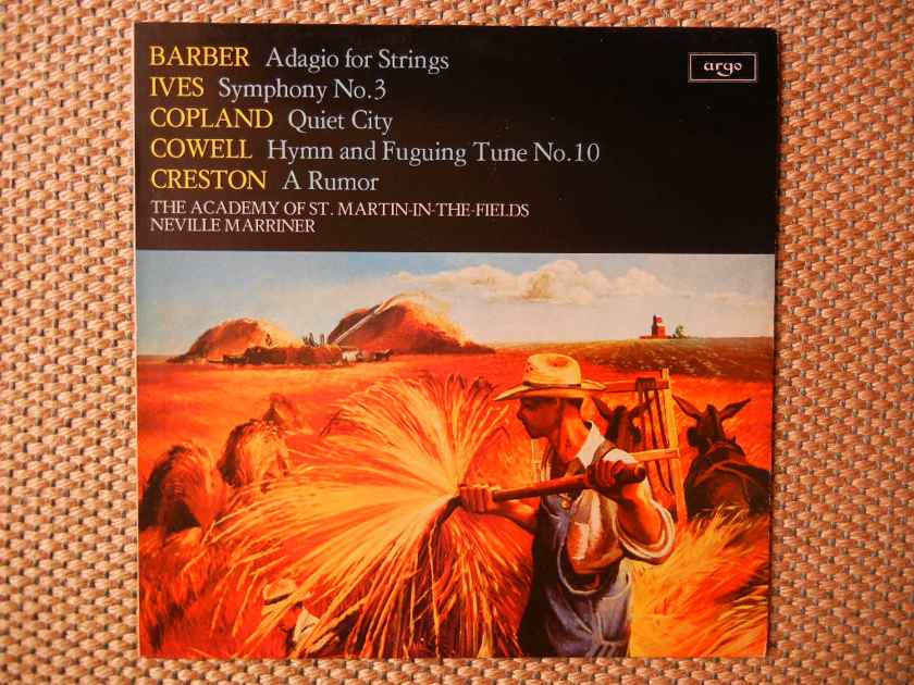Barber-Ives-Copland-Cowell-Creston - 20th Century American Music Argo ZRG 845