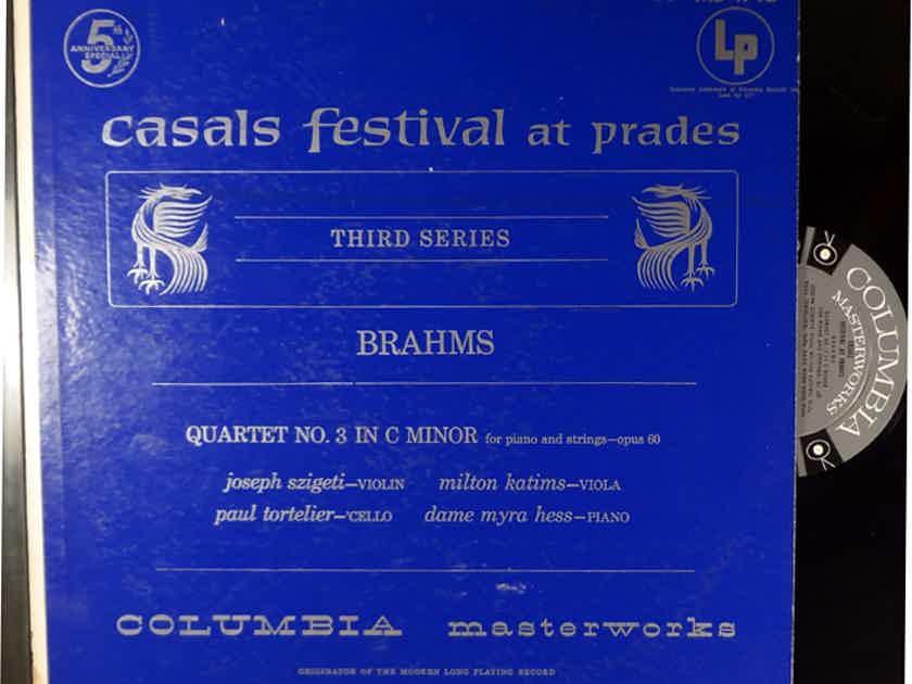 JOSEPH SZIGETTI CASALS FESTIVAL AT PRADES BRAHMS QUARTET NO. 3 IN C MINOR ML 4712