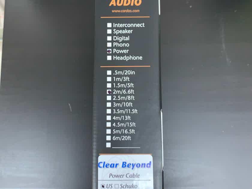 Cardas Clear Beyond Power Cord 2 x 2m Brand New!!