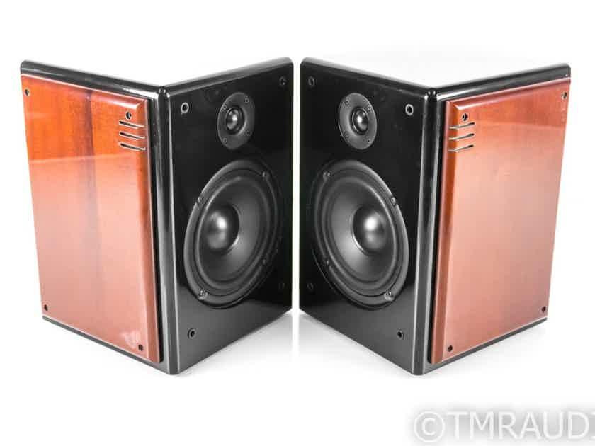 Studio Electric Monitor Bookshelf Speakers; Walnut Pair w/ Art Deco Grills (26679)