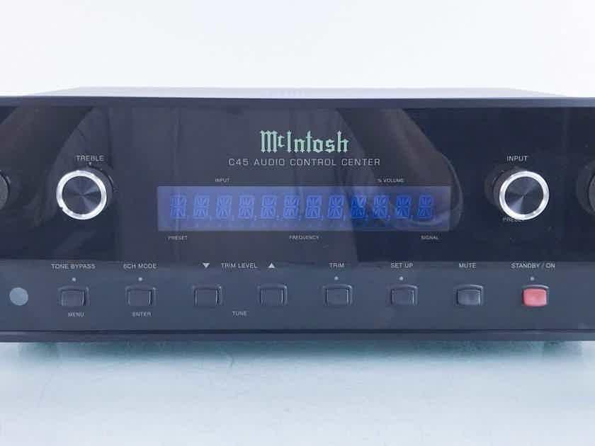 McIntosh C45 5.1 Channel Preamplifier C-45; MM Phono; Remote (15842)