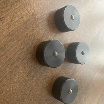 Footers - ceramic bearing - set of 4