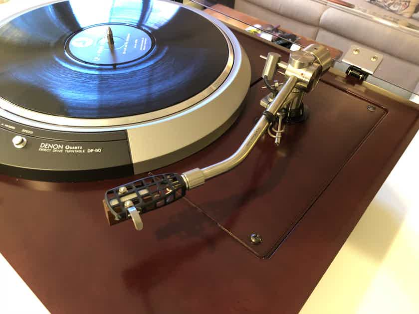 Denon  DP-80 Turntable Fidelity Research FR-64 Silver Tonearm